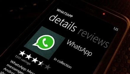 Así se ve el Whatsapp en Windows Phone del Nokia Lumia 930