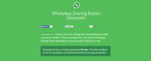 WhatsApp Sharing Button Generator